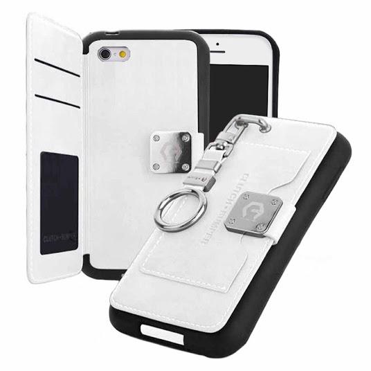 【iPhone6ケース】マルチ収納ケース CLUTCH BUMPER ホワイト iPhone 6_0