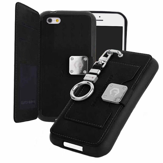 【iPhone6s/6ケース】マルチ収納ケース CLUTCH BUMPER ブラック iPhone 6s/6_0