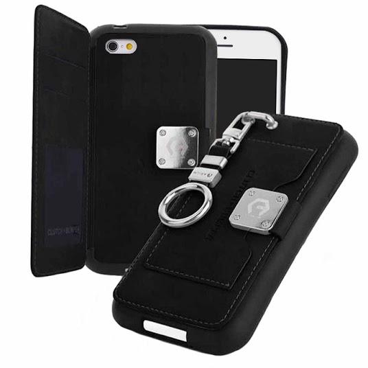 iPhone6s/6 ケース マルチ収納ケース CLUTCH BUMPER ブラック iPhone 6s/6_0