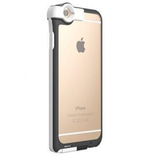 Lightningケーブル一体クリアケース CONTACT ホワイト iPhone 6s/6
