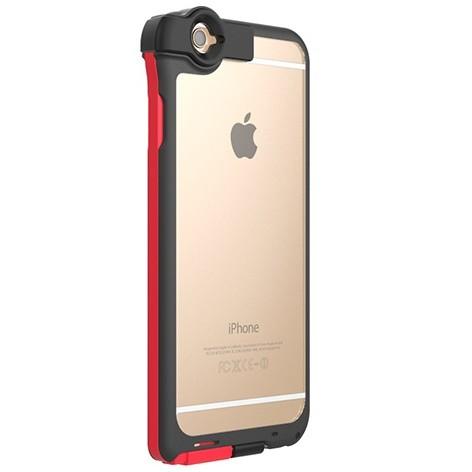 【iPhone6ケース】Lightningケーブル一体クリアケース CONTACT レッド iPhone 6_0