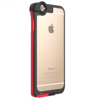 Lightningケーブル一体クリアケース CONTACT レッド iPhone 6