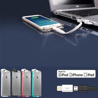 【iPhone6ケース】Lightningケーブル一体クリアケース CONTACT ミント iPhone 6_2