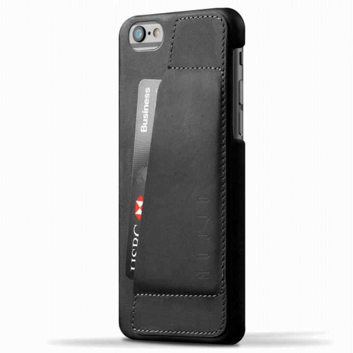 【iPhone6ケース】ウォレットレザーケース MUJJO ブラック 80度ポケット iPhone 6_0