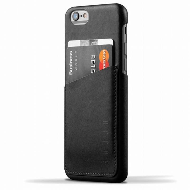 【iPhone6ケース】ウォレットレザーケース MUJJO ブラック iPhone 6_0