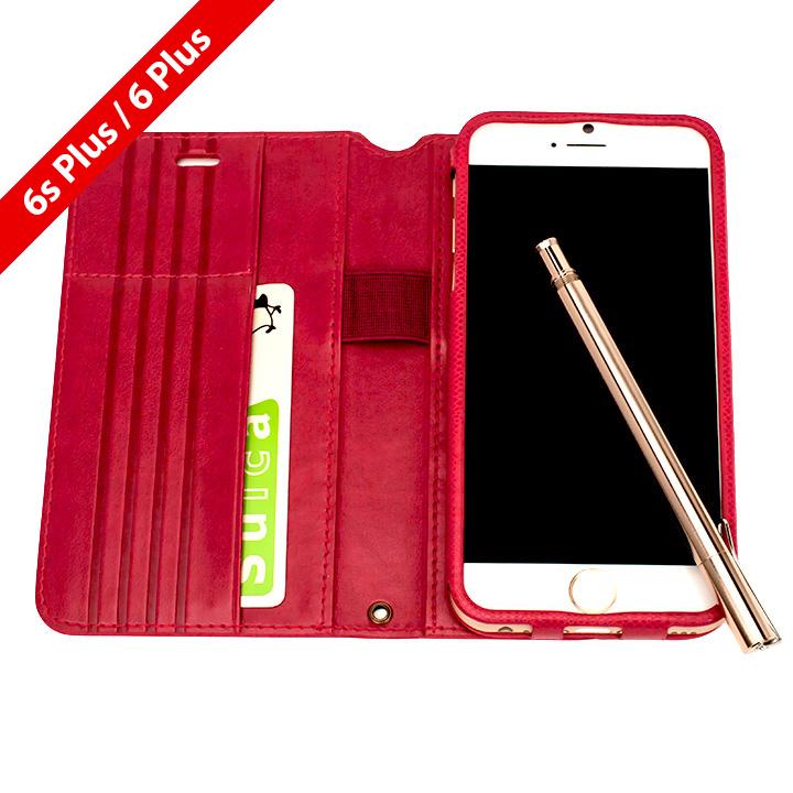 Su-Penホルダー付き 最薄 手帳型レザーケース for iPhone 6s Plus/6 Plus