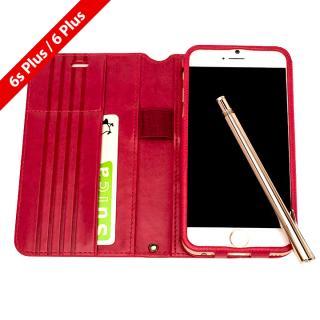 Su-Penホルダー付き 最薄 手帳型レザーケース for iPhone 6 Plus