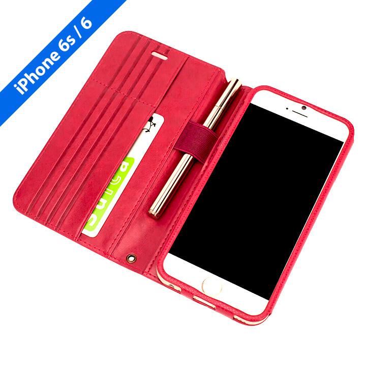 【iPhone6s/6ケース】Su-Penホルダー付き 最薄 手帳型レザーケース  iPhone 6s/6_0