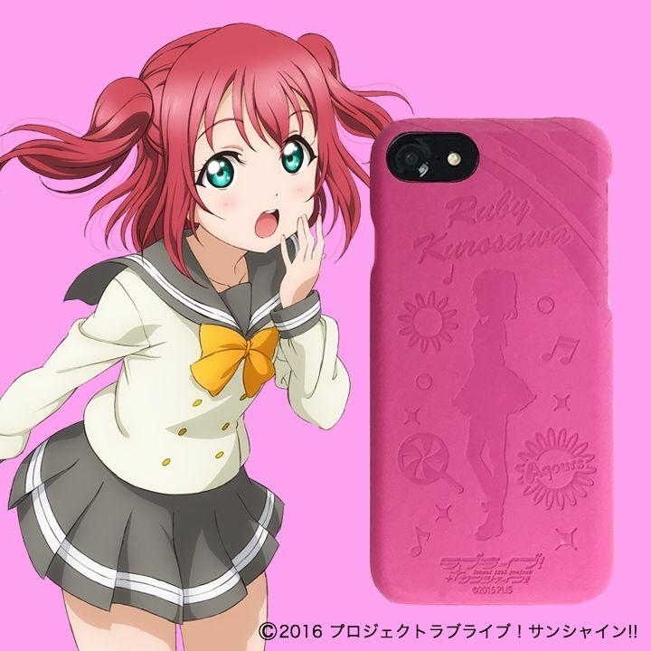 ラブライブ!サンシャイン!! レザーケース for iPhone 7 / 6s / 6 黒澤 ルビィ ver