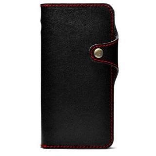 栃木レザー手帳型右開きケース HUKURO ブラック iPhone 6