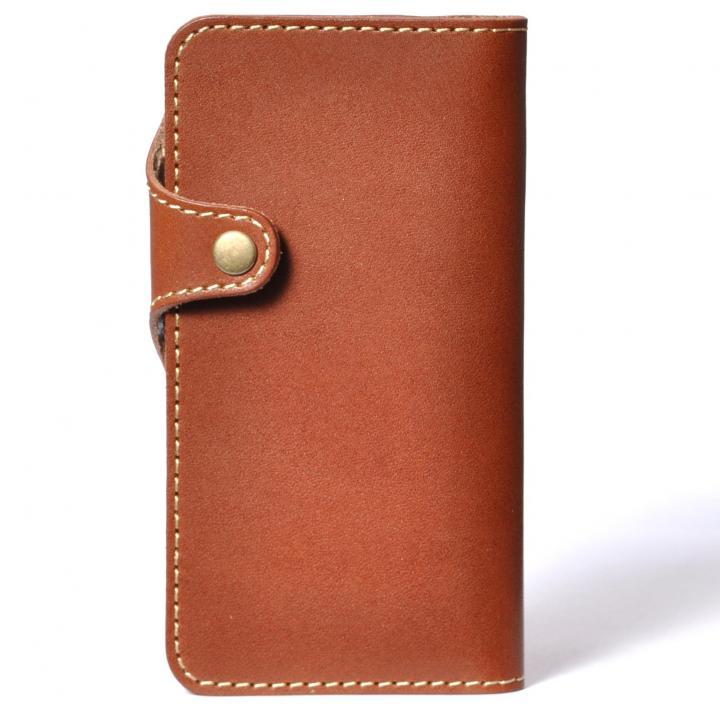 栃木レザー手帳型左開きケース HUKURO ブラウン iPhone 6