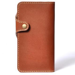 【iPhone6ケース】栃木レザー手帳型左開きケース HUKURO ブラウン iPhone 6