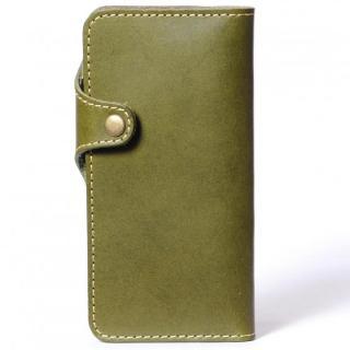 栃木レザー手帳型左開きケース HUKURO グリーン iPhone 6