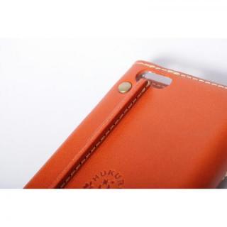 【iPhone6ケース】栃木レザー手帳型左開きケース HUKURO オレンジ iPhone 6_4