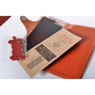 【iPhone6ケース】栃木レザー手帳型左開きケース HUKURO オレンジ iPhone 6_6