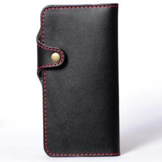 栃木レザー手帳型左開きケース HUKURO ブラック iPhone 6