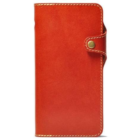 栃木レザー手帳型右開きケース HUKURO オレンジ iPhone 6 Plus