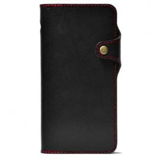 栃木レザー手帳型右開きケース HUKURO ブラック iPhone 6 Plus