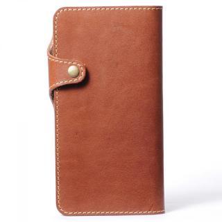 栃木レザー手帳型左開きケース HUKURO ブラウン iPhone 6 Plus