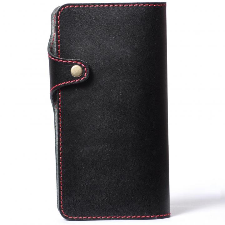 iPhone6 Plus ケース 栃木レザー手帳型左開きケース HUKURO ブラック iPhone 6 Plus_0