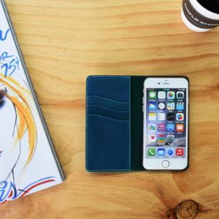 【iPhone6s/6ケース】LAYBLOCK Tuscany Belly トスカーナレザー手帳型ケース  ネイビー iPhone 6s/6_3