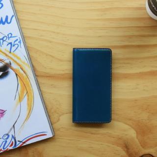 【iPhone6s/6ケース】LAYBLOCK Tuscany Belly トスカーナレザー手帳型ケース  ネイビー iPhone 6s/6_4