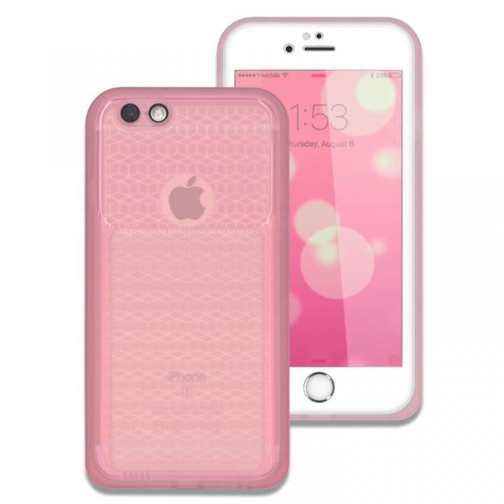 iPhone6s/6 ケース 薄い防水ケース カード1枚収納可能 JEMGUN Passport クリアピンク iPhone 6s/6_0