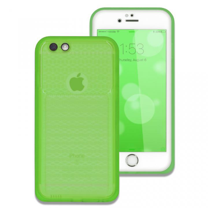 iPhone6s/6 ケース 薄い防水ケース カード1枚収納可能 JEMGUN Passport クリアグリーン iPhone 6s/6_0