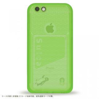 【iPhone6s/6ケース】薄い防水ケース カード1枚収納可能 JEMGUN Passport クリアグリーン iPhone 6s/6_2