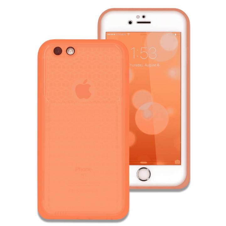 iPhone6s/6 ケース 薄い防水ケース カード1枚収納可能 JEMGUN Passport クリアオレンジ iPhone 6s/6_0