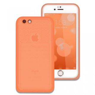 薄い防水ケース カード1枚収納可能 JEMGUN Passport クリアオレンジ iPhone 6s/6