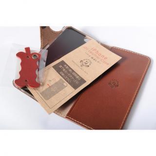 【iPhone6ケース】栃木レザー手帳型右開きケース HUKURO オレンジ iPhone 6_6