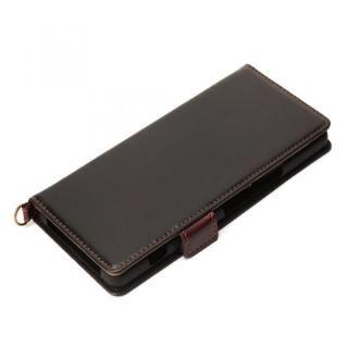 フリップカバー PUレザーダメージ加工 ブラック Xperia 1 Ⅱ