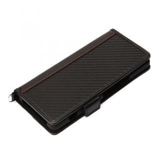 フリップカバー PUレザー カーボン調ブラック Xperia 1