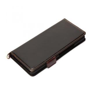フリップカバー PUレザーダメージ加工 ブラック Xperia 10