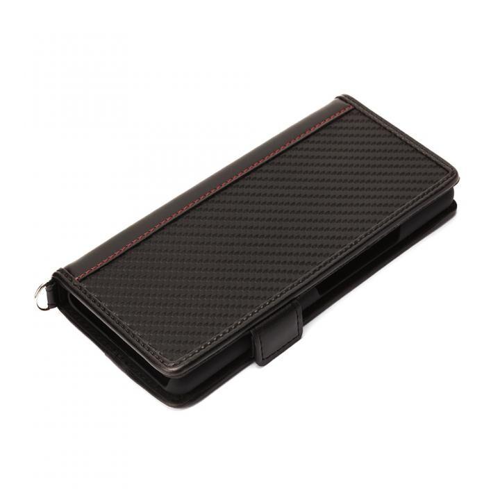 フリップカバー PUレザー カーボン調ブラック Xperia 10_0