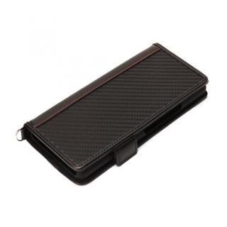フリップカバー PUレザー カーボン調ブラック Xperia 10