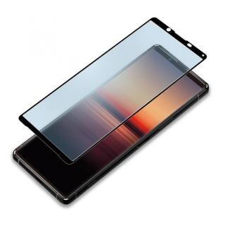 3Dハイブリッド液晶保護ガラス 貼り付けキット付き ブルーライト低減/アンチグレア Xperia 1用