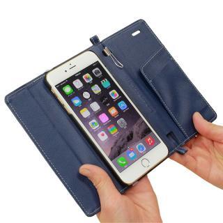 Su-Penホルダー付手帳型ケース ディープブルー iPhone 6s Plus/6 Plus