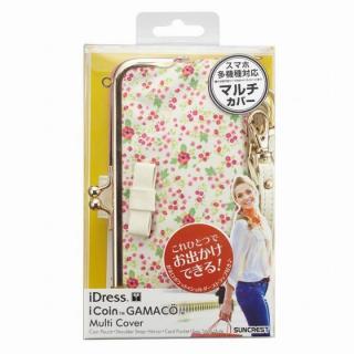 【iPhone SE/6/6 Plusケース】iDress GAMACO がま口ポケット付き手帳型ケース フラワー 多機種(iPhone/Android)対応_6