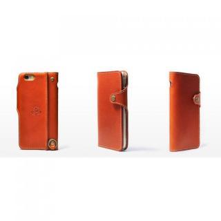 【iPhone6ケース】栃木レザー手帳型右開きケース HUKURO オレンジ iPhone 6_2