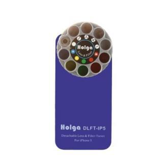 【iPhone SE/5s/5ケース】HOLGAアートエフェクター iPhone5 ブルー
