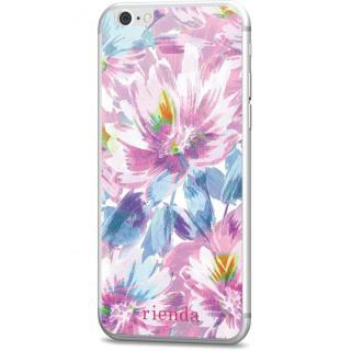rienda 背面強化ガラス Bright flower ピンク iPhone 6s/6
