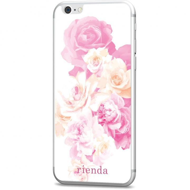 iPhone6s/6 フィルム rienda 背面強化ガラス Gradation flower ピンク iPhone 6s/6_0