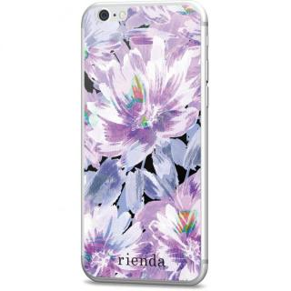 【iPhone6s】rienda 背面強化ガラス Bright flower パープル iPhone 6s/6