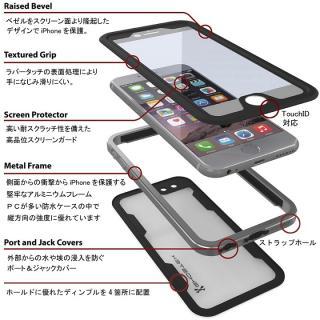 【iPhone6s/6ケース】防水/耐衝撃アルミケース Ghostek Atomic 2.0 シルバー iPhone 6s/6_2