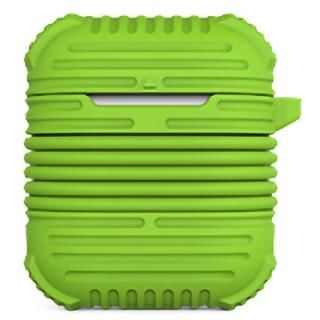マグネット搭載イヤホンストラップ付属AirPodsケース グリーン