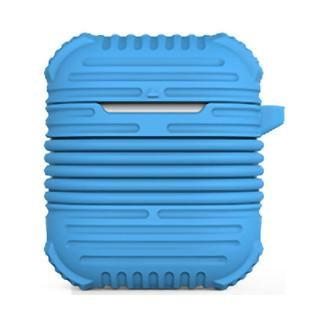 マグネット搭載イヤホンストラップ付属AirPodsケース ブルー