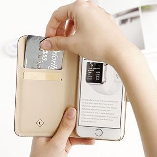 【iPhone6ケース】ドイツ製本革使用手帳型ケース invite.L Stud レッド iPhone 6_5