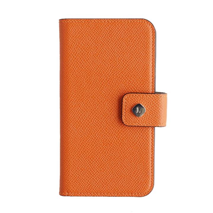 iPhone6 ケース ドイツ製本革使用手帳型ケース invite.L Stud オレンジ iPhone 6_0